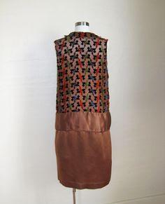 1920s Dress CUT VELVET and Satin
