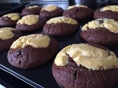 Rezepte mit Herz ♥: Double Chocolate Cheesecake Muffins a la ...