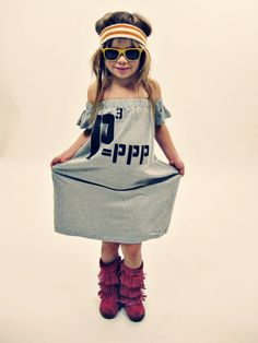 LOVE THE BOOTS.    Poor Pitiful Pearl P3 Kids Dress by poorpitifulpearl on Etsy, $29.00