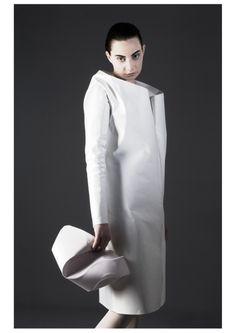 Sculptural, minimal fashion, designer & model: BOSKA by Eliza Borkowska photographer: Joanna Wolak make up artist: Kama Tokarska