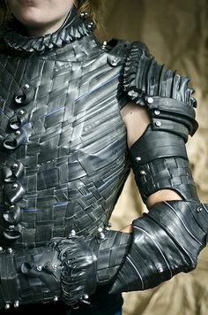 above and beyond. armor made from bycicle inner tubings. credit goes to grace duval