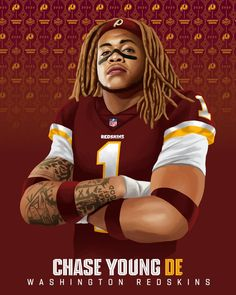 Second overall to the ! Redskins Fans, Redskins Football, Nfl Football Players, Football Art, Football Memes, Redskins Gear, Redskins Players, Seahawks Players, Wilson Football