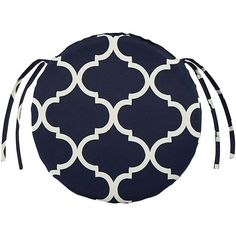 Ordinaire Bullnose Round Outdoor Chair Cushion