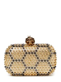 Bee Punk Skull Studded Clutch Bag by Alexander McQueen at Gilt