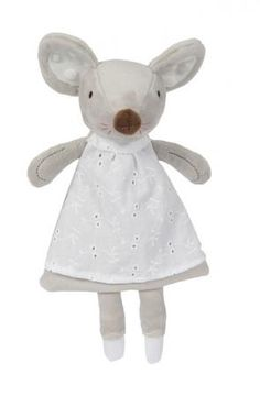 Knistertuch Maus grau-weiß Kuscheltier mit Name personalisiert, Babygeschenke jetzt entdecken Teddy Bear, Toys, Animals, Funny Mouse, Baby Favors, Cuddling, Clearance Toys, Grey, Kids