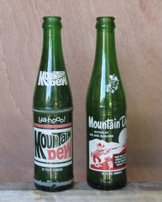 MOUNTAIN DEW BOTTLES Soda Pop Vintage Glass by TREASUREandSUCH, $15.00