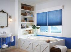 #bathroom #blinds #blue