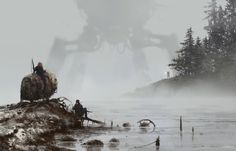 ArtStation - 1920 - lost in the fog, Jakub Rozalski
