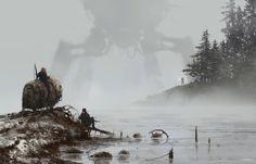 ArtStation - 1920 - lost in the fog, Jakub Rozalski