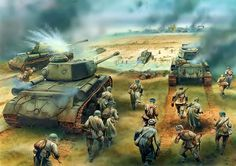 Russian advance with T-34s