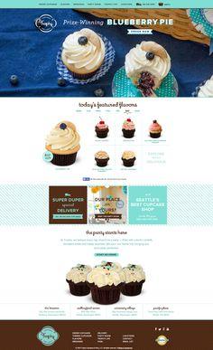 Trophy Cupcakes, Food Web Design, Rustic Cupcakes, Food Posters, Digital Menu, App Landing Page, Cupcake Shops, Graphic Design Branding, Food Menu
