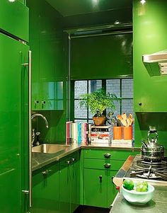 Home : Ten Ways To Bring GREEN Into Your Home  Super Green Kitchen | Ruxana's Home Interiors