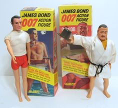 GILBERT: 1965 James Bond 007 & Oddjob Action Figures #Vintage #Toys