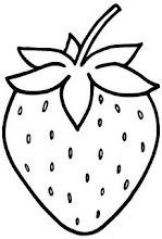 Strawberry pattern. Use the printable outline for crafts, creating ...