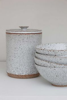 Victoria Morris #ceramics #pottery Great container for flour, rice, etc