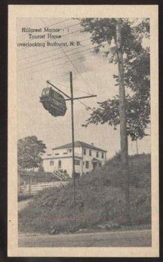 Postcard-BATHURST-New-Brunswick-CANADA-Hillcrest-Manor-Tourist-Inn-Home-1920s