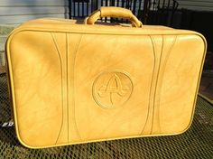 Vintage American Tourister Golden Mustard Yellow by NotWantNeed, $24.00