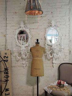 Painted Cottage Chic Shabby White Romantic French Sconces