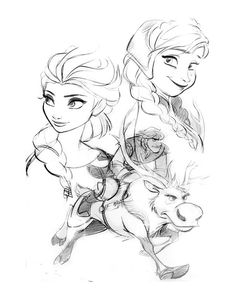 Frozen-conceptart ✤ || CHARACTER DESIGN REFERENCES | キャラクターデザイン •  | ✤