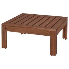 ÄPPLARÖ Table/stool section, outdoor, brown stained brown - IKEA Teak, Modular Corner Sofa, Modul Sofa, Wood Supply, Ikea Family, Outdoor Flooring, Seat Pads, Recycled Wood, Acacia Wood