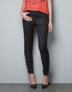 BROCADE TROUSERS - Trousers - TRF - ZARA United States