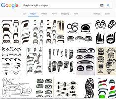 Tlingit Design Elements: Formline 'U' Shapes Arte Haida, Haida Art, Native Tattoos, Pole Art, Native American Symbols, Art Premier, Inuit Art, Tlingit, Native Design