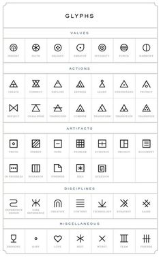 glyphs tattoo designs tattoos