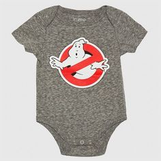 15b0f221d069 Ghostbusters Baby Boys  No Ghost Bodysuit - Gray