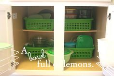 food storage container organization