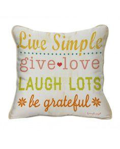 "16"" Live Simple Pillow"