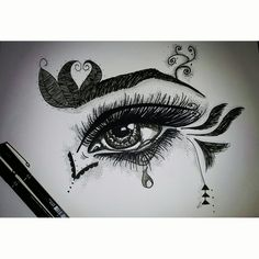 Zentangle eye design