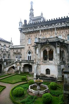 "Bucaco Palace  ""The Palce of Bucaco (Bussaco) is typical Manueline style. Completed in 1907 as the summer palace of Carlos I, its role was short lived as Carlos was assinated a year later bringing the monarchy in Portugal to an end.  It is built on the site of a Carmelite monastery and set in 250 acres of woodland.   It is now a hotel"""