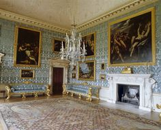 The Drawing Room at Kedleston Hall, Derbyshire. The chimneypiece and ceiling were designed by Paine, while the doorcases and sofas are slightly later additions by Robert Adam. ©NTPL/Nadia Mackenzie
