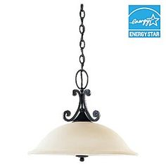 1-light in Weathered Iron  69260BLE-07  bulbs included