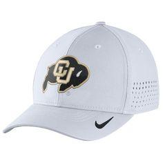Colorado Buffaloes Nike Sideline Vapor Coaches Performance Flex Hat - White