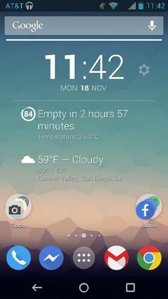 An Android 4.1 Home screen with Nova Launcher Beta.