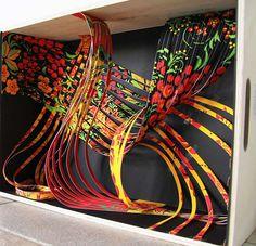 Window Display. Paper art. Double-side pattern print on paper.
