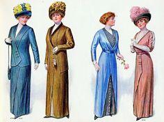 """Edwardian Fashion for """"Stout"""" Women, 1912   The Vintage Site"""
