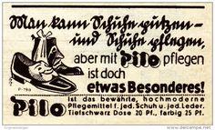 Original-Werbung / Anzeige 1938 - PILO SCHUHPFLEGE  - ca. 60 x 40 mm