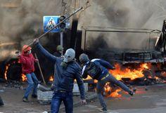 Kiyv. Protest against regime. Київ.18 лютого.