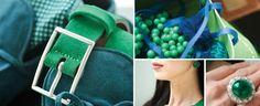 Изумрудный - цвет 2013 года от Pantone - в сочетании с сине-зеленым