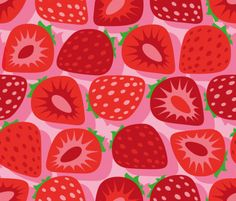 "strawberry pattern   Motiv: ""Strawberry field-3"" (#66928) © Cassiopee  | Winner of stoffn's strawberry pattern contest in june 2015"