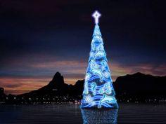 World´s Largest Floating Christmas Tree in RIO de JANEIRO, BRAZIL!