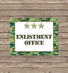 Army Party Printables, Invitations & Decorations – Camo