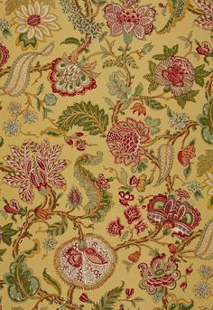 Floral fabric is a classic choice for decorating your home interior. Choose from our massive array of floral prints to match your home's interior decorating style. Textile Pattern Design, Textile Patterns, Textile Prints, Paisley Pattern, Floral Print Fabric, Floral Prints, Waverly Fabric, French Fabric, Jacobean