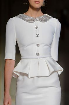 I have owned a number of peplum suits since I was a teenager in that Dior New Look style of the late '40s/early '50s—  what a truly flattering silhouette.  Georges Hobeika S/S 2013, Couture