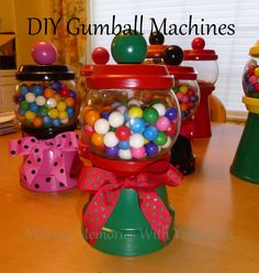 DIY Gumball Machine and Candy Dispensers