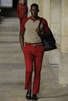 Hermès Men's RTW Spring 2013 - red pants , red pants, red pants