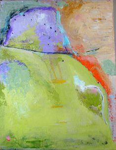 Original Painting Green acrylic abstract by CherylWasilowArt, $99.00