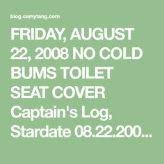 Captain's Log, Stardate I actually wrote out my pattern! I was getting a lot of hits on my infamous toilet seat cover , and I w. August 22, Seat Covers, Yards, Toilet, Things I Want, Friday, Cold, Number, Writing